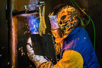 mti welding student training