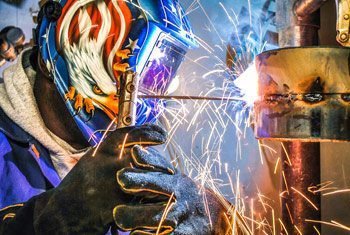 pipe welding student training