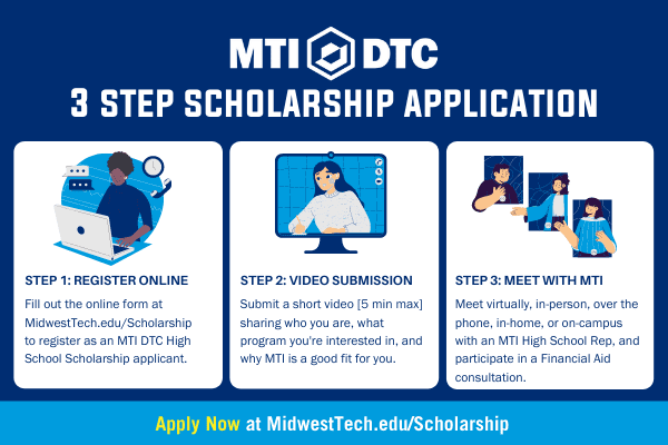 MTI's 3 Step Scholarship Application Process