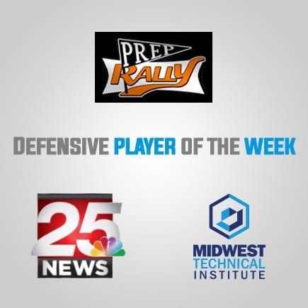 Defensive Player of the Week Sponsored by Midwest Technical Institute